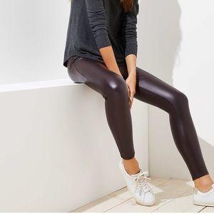 American apparel faux leather leggings, XL